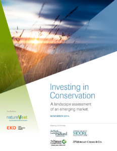 Investing in Conservation. A landscape assessment of an emerging market