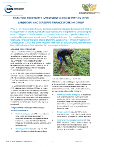 Factsheet CPIC Landscape and Seascape Finance Working Group