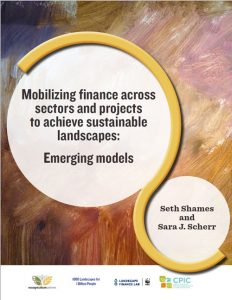 Mobilizing finance across sectors and projects to achieve sustainable landscapes: Emerging models