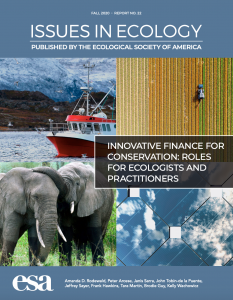 Innovative Finance for Conservation: Roles for Ecologists and Practitioners (November 2020)